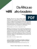 Da África ao afro-brasileiro, Cláudio Baptista Carle e Angelita Hentges