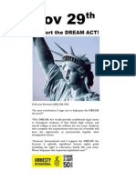 Call your senators on Nov 29th- Support the DREAM Act!