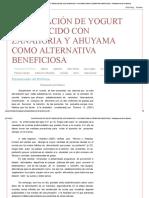 Elaboración de Yogurt Enriquecido Con Zanahoria y Ahuyama Como Alternativa Beneficiosa _ Planteamiento Del Problema