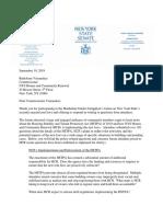 Letter to HCR Commissioner 9-19-19