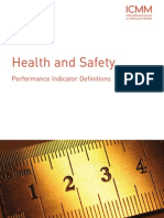 ICMM Health and Safety Performance Indicator Definitions