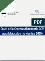 Canasta Alimentaria de Maracaibo noviembre 2019
