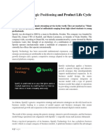 Spotify Strategig Possining and Product Life Cycle Four Basic Stages.