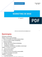 Cours de Marketing de Base Licence 1 UOM