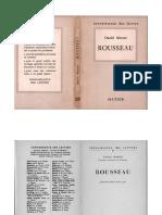 Daniel Mornet - Rousseau. 4e Ed. (Hatier 1950)
