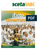 Gaceta 432 edición especial Egresados