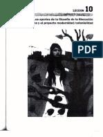 2Los aportes de la filosofia de la liberacion latinoamericana y el proyecto modernidad  colonialidad. Leccion 10.pdf