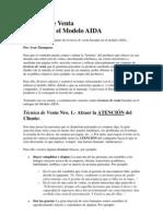 Téc de Vtas - Modelo AIDA