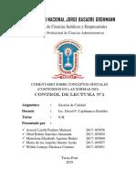 COMENTARIO SOBRE CONCEPTOS OFICIALES (CONTENIDOS EN LAS NORMAS ISO)