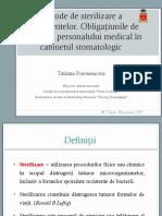 3. Metode de Sterilizare a Instrumentelor (1)