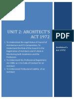 Unit 2 Architect's Act 1972-1