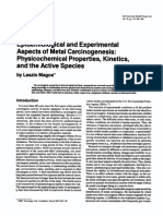 Epidemiological and Experimental Aspects of Metal Carcinogenesis Physicochemical Properties, Kinetics, And the Active Species