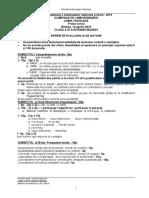 Subiecte Olimpiada de lb. Franceza clasa a IX-a si a X-a