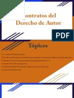 (Exposición) Contratos Del Derecho de Autor