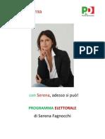 Serena Fagnocchi - Programma Completo