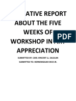 NARRATIVE REPORT ABOUT THE FIVE WEEKS OF WORKSHOP IN ART APPRECIATION.docx