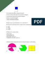 Avaliação de Matematica Fraçoes
