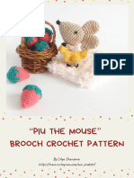 Piu the Mouse Brooch