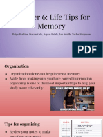 chapter 6  life tips for memory