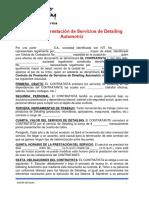 Modelo Contrato Detailing Empresarial