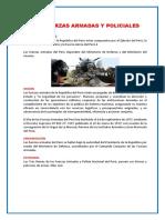 Las Fuerzas Armadas y Policiales