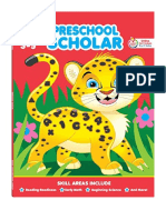 [2014] School Zone - Preschool Scholar Workbook - 64 Pages, Ages 3 to 5, Preschool to Kindergarten, Reading Readiness, Early Math, Science, ABCs, Writing, and More by Joan Hoffman |  | School Zone