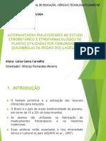 Alternanthera philoxeroides NO ESTUDO ETNOBOTÂNICO E ETNOFARMACOLÓGICO DE.pptx