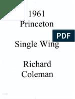 1961 Princeton Single Wing