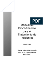Manual de Tratamiento de Incidentes