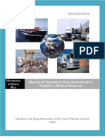 Manual Gerencia de Exportaciones