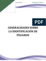 GENERALIDADES SOBRE LA IDENTIFICACIÓN DE PELIGROS