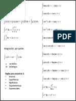 FORMULARIO DE INTEGRAL