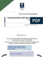 Características del apresto en la escritura.ppt