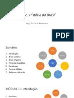 curso de história do brasil
