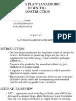 BIO-GAS PLANT(ANAEROBIC DIGESTER) CONSTRUCTION.pptx