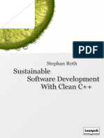 Sustainable Software Development with Clean C++