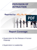 Supervision for the Release of Human Potential