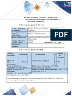 Guia de actividades y rúbrica de evaluación- Paso No. 4 - Realizar Investigación