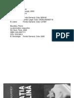 24015800 Pierre Bourdieu Dominatia Masculina