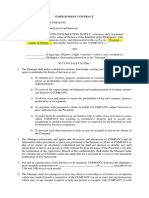Employment Contract (Manager).doc