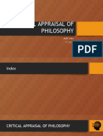 CRITICAL APPRAISAL OF PHILOSOPHY_mine.pptx