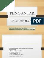 MATERI I-Pengantar Epidemiologi