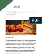 Os 100 livros que todo advogado criminalista deveria receber de presente no Natal.pdf