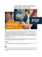 Science Alone Won't Save the Earth-People Have to Do That