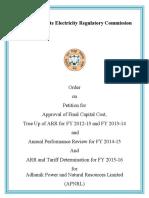 Adhunik Power 2016 PPA revision application