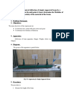 To determine central deflection of simply supported beam by a concentrated load at the mid.docx