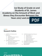 A Comparative Study of Grade 10 and Grade 11 Students of St. James Academy on the Amount of Work and Stress They Encounter Between the Years 2017 and 2019