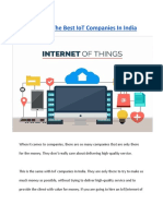 Qualities Of The Best IoT Companies In India