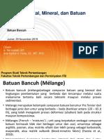 2019 - Batuan - Batuan Bancuh