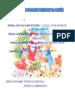 Proiect de Activitate Integrata Surprize Pentru Mos Craciun- Stoica Loredana Petre Luminita